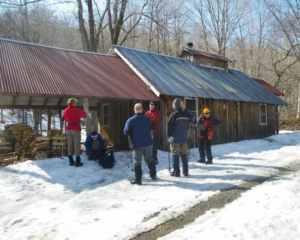 vermont cabin winter barn